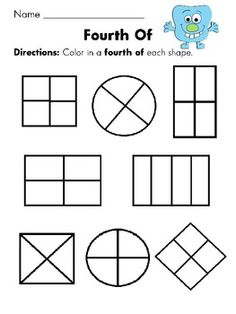 math worksheet : fractions worksheets and first grade on pinterest : Fraction Worksheets For First Grade