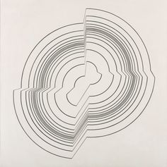 Cave to Canvas, Bridget Riley, Broken Circle, 1963  installation or drawing?