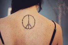 peace tattoo made of squiggly lines Peace Tattoos, Mehndi, Ink, Tatoos, Future, Awesome, Ideas, Future Tense, India Ink