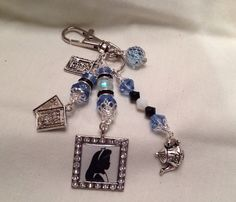 Alice in Wonderland inspired zipper pull/bag charm by DesignsByDodie on Etsy, $18.00