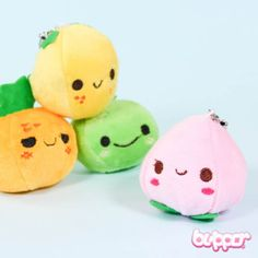 Smiling Mini Fruit Plush Charm