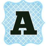 Blue and Black Free Printable Letters for Banners (Other Colors Available)