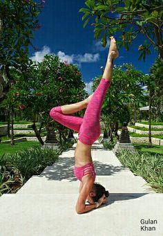 Fantastic girl enjoying of Excersise in Bali Island Indonesia