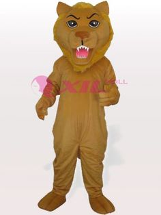 $192.25Gold+Plush+Lion+#Adult+#Mascot+#Costume