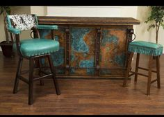 Cowhide Furniture Co.This chair and stool are amazing! Cowhide Decor, Cowhide Furniture, Western Furniture, Rustic Furniture, Furniture Ideas, Western Style, Western Art, Country Decor, Rustic Decor