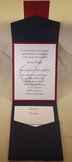 Wedding Invitation Pocket Card