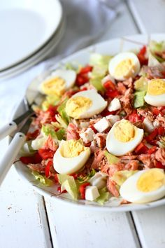 Salad Recipes, Healthy Recipes, Feta, Fabulous Foods, Health And Wellbeing, Cobb Salad, Food Porn, Good Food, Food And Drink