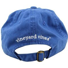Whale Logo Baseball Hat in Royal Blue by Vineyard Vines, Also... (8.395 HUF) ❤ liked on Polyvore featuring accessories, hats, fillers, headwear, vineyard vines, baseball cap, royal blue baseball hat, logo hats and embroidered baseball hats