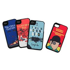 Literary art iPhone covers such as The Great Gatsby, Catcher in the Rye, To Kill a Mockingbord, and A Clockwork Orange. Great gift for writers and readers.