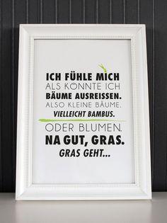 Gras geht... - Druck von Formart von FORMART - Zeit für schönes! auf DaWanda.com