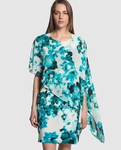 Vestido corto de mujer Antea de gasa con estampado floral