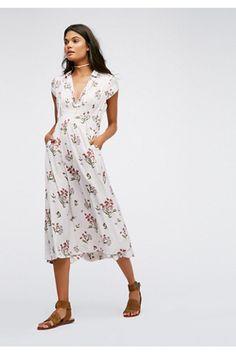 Womens 40S PRINTED MIDI - Bohemian Summer Fashion Trend 2017