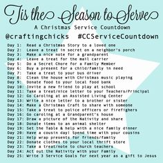 We are so excited about our Service Countdown and want our readers to join in the fun!…and spirit of Christmas. Our Service Christmas Countdown was shared a few days ago. We challenge our readers to follow along with us and share! We have made a service countdown guide to follow, but please feel free to …