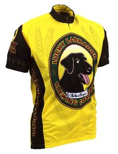 1624dd90b Amazon.com  Lucky Labrador Lab Beer Cycling Jersey by Retro Image Men s  Short Sleeve  Sports   Outdoors