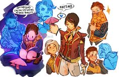 """velocesmells: """" I'm late to the tftbl party but I kind of felt like drawing rhys and jack as kids? for some reason """" Rhys Borderlands, Borderlands Series, Tales From The Borderlands, Handsome Jack, Daddy Long, Fantasy Setting, Video Games, Character Design, Fan Art"""
