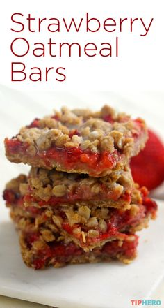 Looking for an easy snack that makes use of all those fresh-picked strawberries? Try these Strawberry Oatmeal Bars, topped with just a touch of vanilla glaze for an extra sneak of sweetness. They're super easy and super delicious, and all things considered, pretty healthy, too! Click to watch how they're made, and add some sweetness to your day.