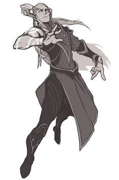 dynamic elf man by Penette- http://penett.deviantart.com/art/Tal-enthiel-for-Halduis-399054306