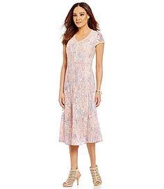 Reba Spring Radiance Floral Lace Dress #Dillards