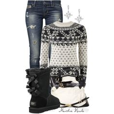 Snowflake Sweater !!, created by menthie-nicole-gomes on Polyvore