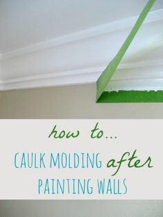 How to Caulk Molding After Painting Walls