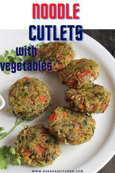 Noodle cutlets is a delicious recipe usually made for breakfast, lunch or snacks. Noodles are cooked, mixed with vegetables, sauce, spices and flour and are pan fried or shallow fried. Noodle cutlet recipe can also be made with leftover noodles or spaghetti and is a great option for evening snacks with noodles. Noodle recipes cutlet can also be made with maggi noodles. The maggi noodle cutlet with vegetable can be served to fussy eaters and is great idea to make them eat veggies. Best Lunch Recipes, Delicious Vegan Recipes, Breakfast Recipes, Carrot And Coriander, Cutlets Recipes, Good Food, Yummy Food, Fussy Eaters, Evening Snacks
