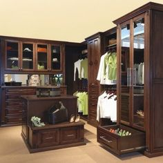 Master Closet ideas. If only it had an all-in-one washer/dryer in the corner, it would be perfect.