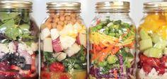 RECETTES : 4 salades dans un pot à faire en avance