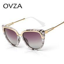 Ovza clássico marmoreio cor cat eye óculos polarizados mulheres óculos de  sol de alta qualidade retro 3b428c924c