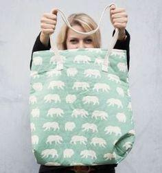 DIY-Anleitung: Einfache Tasche mit Schnittmuster nähen via DaWanda.com