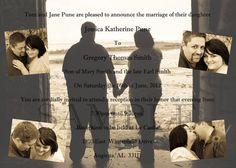 5x7 Custom Photo Wedding Invitations Print as many as you qant