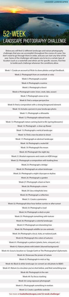 52-Week Landscape Photography Challenge #naturephotographytips,