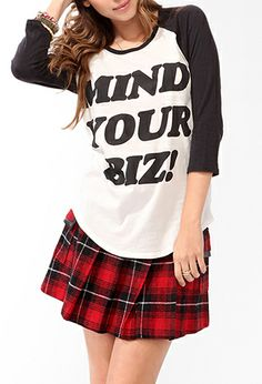 I need this top! Mind Your Biz! Baseball Top | FOREVER21 - 2027705497