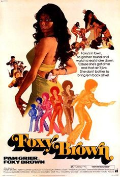 'Foxy Brown' - film poster art, 1974.