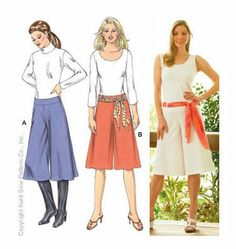 Gauchos and Sash Kwik sew 3433