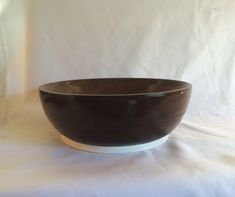 Vintage Hand Turned Wood Bowl by ContemporaryVintage on Etsy