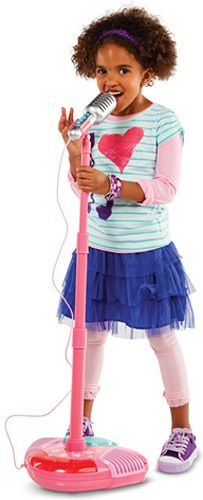 $44.99 Sing-A-long Star Mic Pink Disco Lights, sound effects, and volume control Ages 3-8