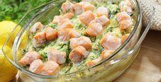 Запеканка с лососем