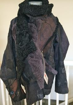 jacket made of different kinds of lamb fur ( Karakul lamb from 1965 ) reversible, one of a kind