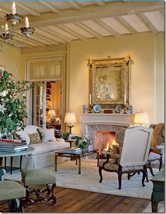 Glass of wine, great friends and a French style living room!