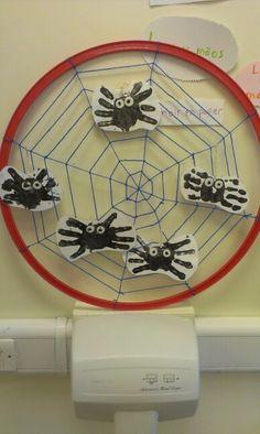 Mini beast- spider dangling display.