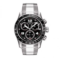 Tissot V8 Gents Black Chronograph Watch. - Geeves Jewellers - suppliers of watches and jewellery, London