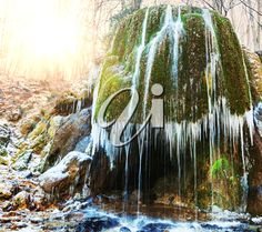iPHOTOS.com - Stock Photo of a Waterfall in a Forest