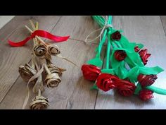 How to make Beautiful roses from corn leaves Tutorial/Amazing craft from corn leaves/ Leaf Crafts, Fun Crafts, How To Make Rose, Beautiful Roses, Hello Everyone, Diy, Leaves, Make It Yourself, Christmas Ornaments