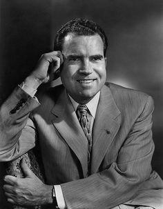 Richard Milhous Nixon - Born Jan. 9, 1913-Apr. 22, 1994 - Republican Party - Vice President: Spiro T. Agnew; Gerald Ford. Buried: Yorba Linda, California.