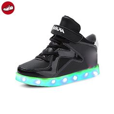 (Present:kleines Handtuch)High Top mit Velcro Rot 45 EU 7 Sport Unisex-Erwachsene Herren für Sneaker Turnschuhe Leuchtend USB Schuhe Sportschuhe Auflade OTUK2YkS