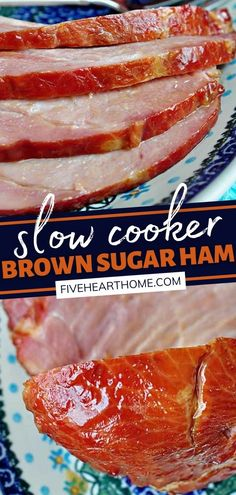 Make holiday cooking quick and easy with a crock pot dinner! This sweet and savory Slow Cooker Brown Sugar Ham is mouthwateringly delicious. Once you try this main dish recipe, you may never want to cook it in an oven again! Pin this to your Thanksgiving menu! Easy Delicious Recipes, Delicious Food, Easy Recipes, Easy Meals, Pork Recipes, Slow Cooker Recipes, Real Food Recipes, Crockpot Recipes, Ham Dishes
