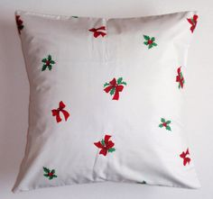CHRISTMAS Throw Pillow Cover VINTAGE Fabric by PersnicketyHome