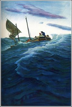 N.C. Wyeth  I think i would like this without the boat....inspiration.