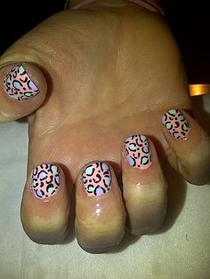 Easter Leopard Mani by WAH Nails | nail art