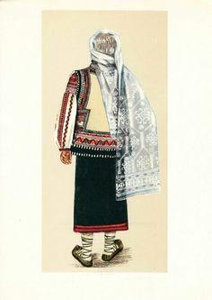Folk dress from Romania